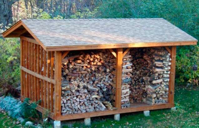 Как сделать навес для дров на даче своими руками: из дерева, металла, поликарбоната; что луше? Советы, идеи дизайна, Инструкция Видео