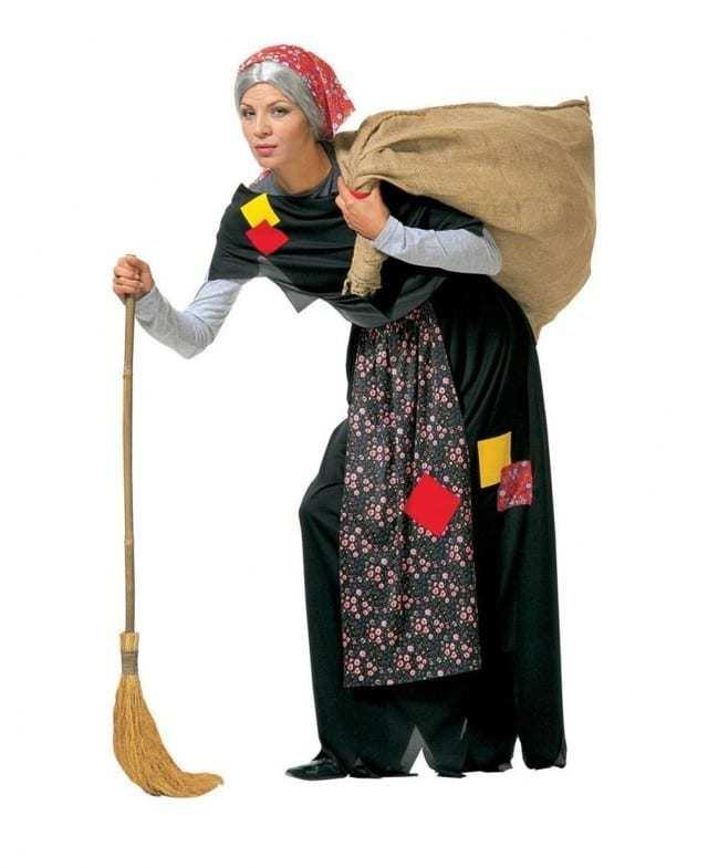 Современный костюм Бабы Яги своими руками