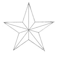 Как нарисовать Звезду карандашом