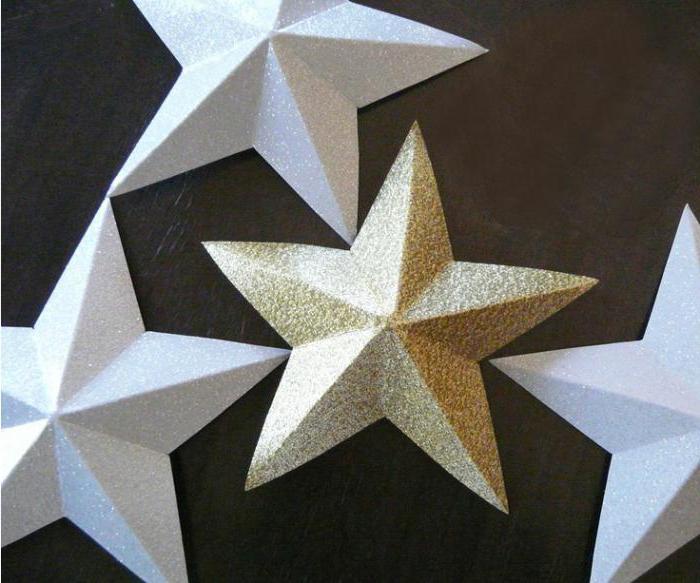 Объемная звезда из бумаги сделать самому своими руками: пошаговый мастер-класс