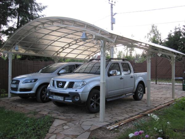 Площадка для автомобиля на даче: виды. Заливка площадки и создание навеса