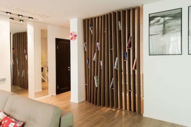 Перегородки из дерева для зонирования комнатного пространства: виды, способы зонирования и монтаж