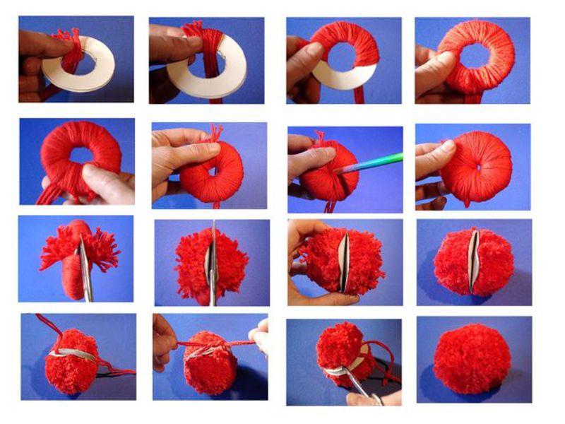Как своими руками сделать коврик из помпонов