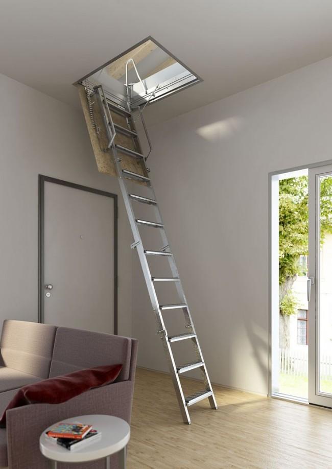 Чердачный люк с лестницей-невидимкой