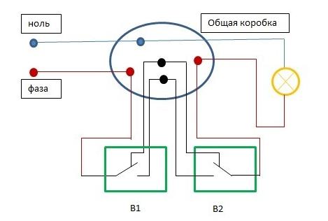 Выключатель проходной: схема подключения; советы от мастеров