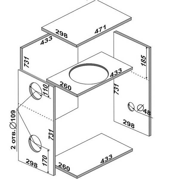 Как рассчитать короб для сабвуфера