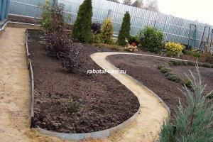 Садовые дорожки из камня (песчаника)