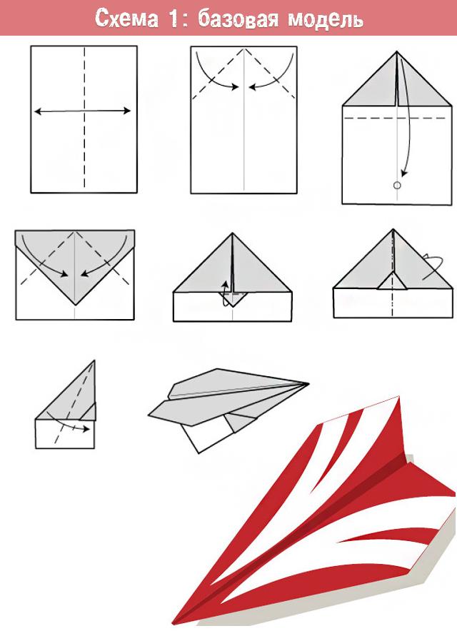Как легко сделать самолетик из бумаги? 4 модели разного уровня сложности