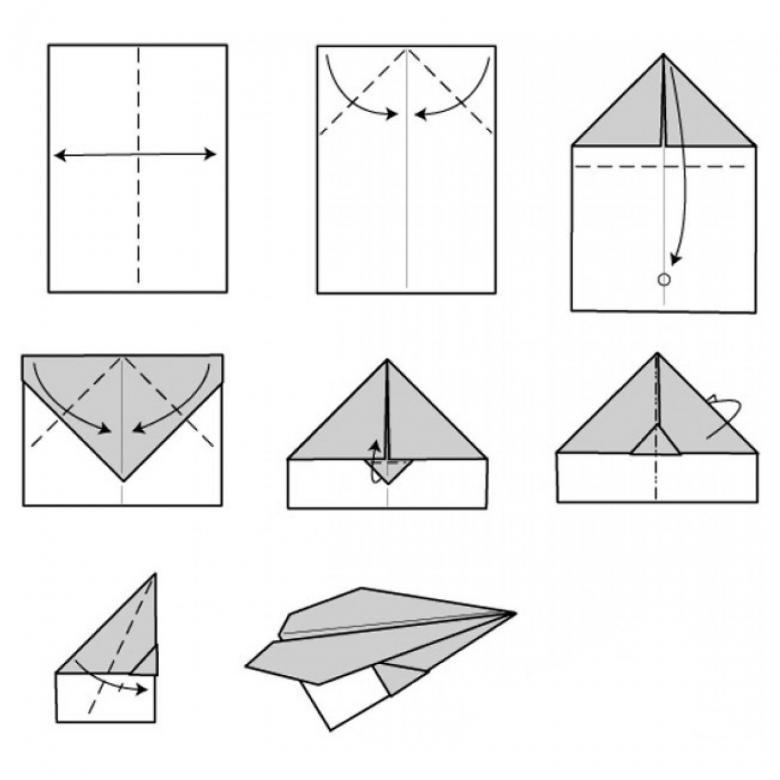 Как сделать оригами самолет из бумаги, который далеко летает - схемы и пошаговые инструкции, фото работ