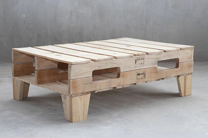 Мебель из поддонов: 60 красивых идей
