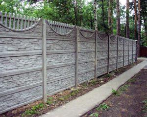 Как сделать забор из бетона своими руками без лишних затрат