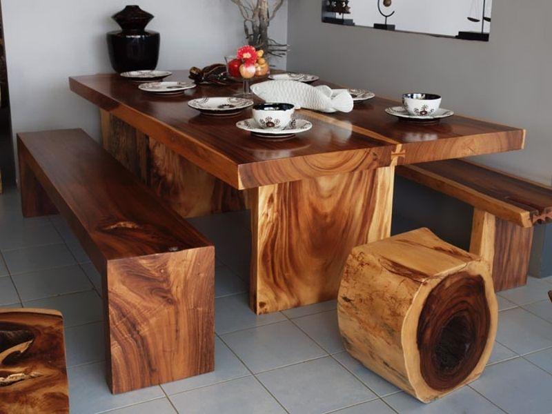 Стол из массива дерева своими руками