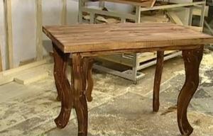 Деревянный стол своими руками, фото этапов работ