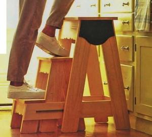Делаем деревянную стремянку для дома