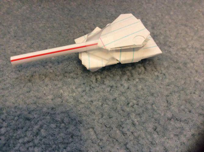 Танки из бумаги. Как изготовить своими руками