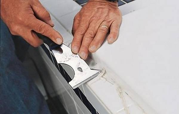 Как и чем оттереть силиконовый герметик