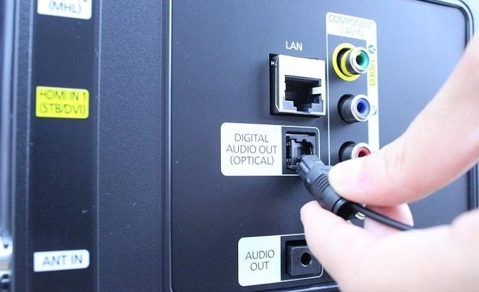 Как подключить оптический кабель к телевизору samsung