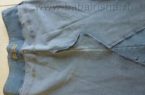 Выкройка для начинающих юбки карандаш из джинса